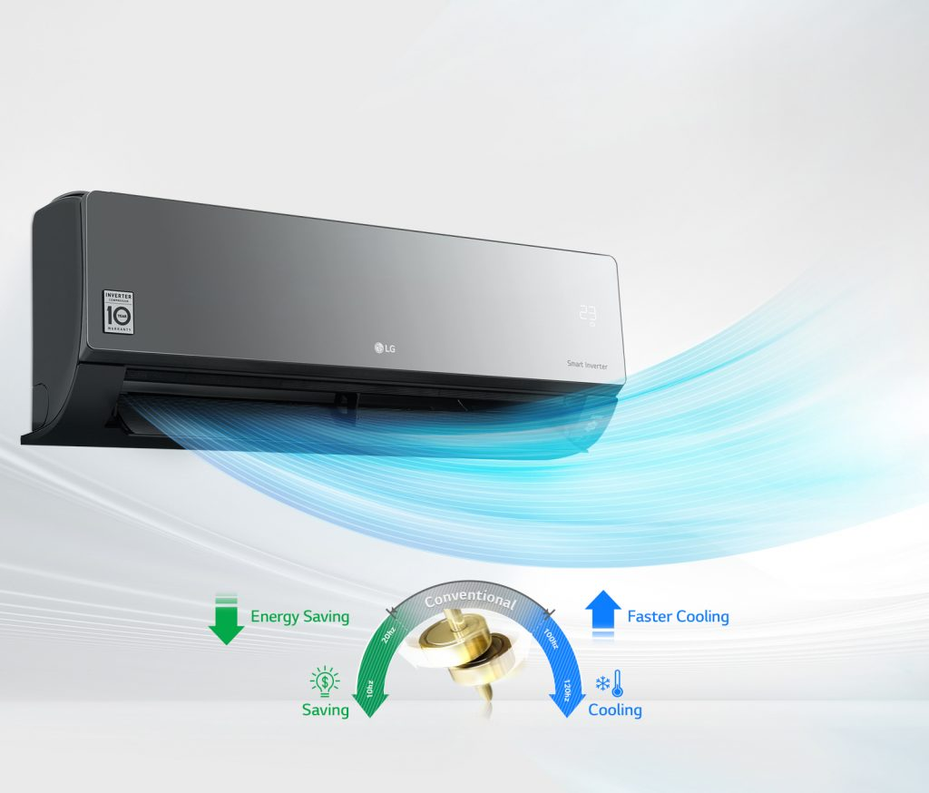 Energy Saving with LG Air Conditioning Inverter Compressor