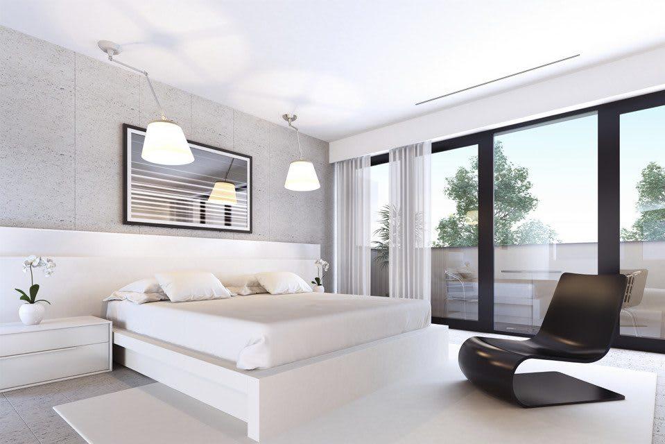 Modern home aircon installation